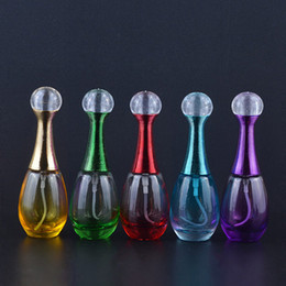 Wholesale Empty Glass Bottle Small Spray - 20ml spray perfume bottles glass empty small perfume refillable atomizer bottle fashion colorful container free shipping