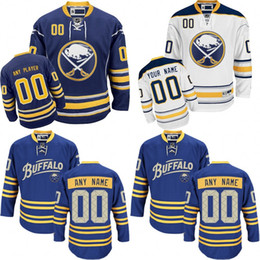 Wholesale Buffalo Logos - 2018 season Customized Men's Buffalo Sabres Custom Any Name Any Number Ice Hockey Jersey,Authentic Jersey Embroidery Logos size S-3XL