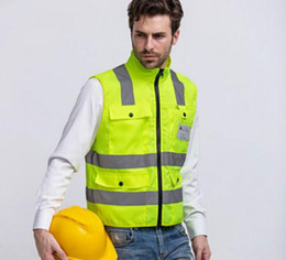 Wholesale Wholesale Reflective Safety Vests - High Quality Reflective Safety Clothing Visibility Working Safety Construction Vest Warning Reflective traffic working Vest RS-19 Thickened