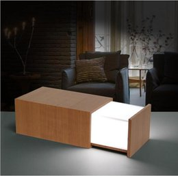 Wholesale Wooden Box Speakers - luetooth Speaker Magic USB Night Light led multi-functional lights for 2016 new arrivals Rechargeable Wooden Box Lamp With Bparty