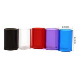 Сменный пирекс онлайн-Красочные Pyrex стеклянная трубка для Aspire клейте ясный бак сменный рукав для клейте рта атомайзер DHL бесплатно