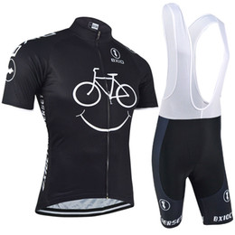 Wholesale blue mountain cycling - BXIO New Comming Cycling Jerseys Yellow Smile Mountain Bike Clothes Short Sleeve Quick Dry Cycling Sets Breathable Bikes Clothes BX-085