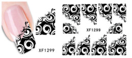 Wholesale Decal Water Tranfer Nail Sticker - 70Sheets XF1299-XF1371 Nail Art Flower Water Tranfer Sticker Nails Beauty Wraps Foil Polish Decals Temporary Tattoos Watermark