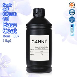Wholesale Off Products - #807X & 808X CANNI Soak off UV LED Primer Base Coat One Kilo + Topcoat One Kilo Specially Designed for CANNI Nail Gel Products
