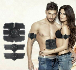 Wholesale Abs Exercise - EMS Muscle Training Toner Gear ABS Trainer Fit Exercise Body Shape Fitness Massage Home Use