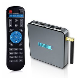 Wholesale Installing Bluetooth - Octa Core 4K TV Box 2gb 16gb S912 Mecool TV Stream Android Box Dual Band WIFI TVapps pre-installed Bluetooth 1000M LAN