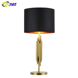 Wholesale Projects Arts - Modern Art NEW Classic Delight Full Table Lamp Luxury Brush Gold Project Lamp Office Living Room Bedside Stand Lamp