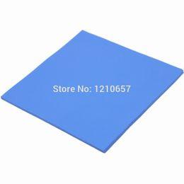 Wholesale Gpu Heatsink Fan - Wholesale- 1PCS 100 x 100 x 2.5mm Blue Silicon Heatsink Cooling Conductive GPU CPU Chipset Thermal Pad