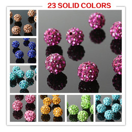 Wholesale Clay Pave Beads - Hot Sale! DIY Jewelry Bead Mix Colored Crystal Rhinestones Pave Clay Round Ball Spacer Beads for Bracelet Necklace Y6002