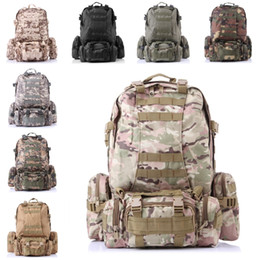 Wholesale Tennis Backpack Wholesale - 3D Combination Backpack Camo Large Capacity Backpack Outdoor Climbing Multi-Function Sport Bag 8 Color Free DHL E599L