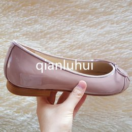 Wholesale Genuine Leather Shoes For Ladies - 2016 New ladies designers summer fashion bow All genuine leather shoes woman ballerina flats shoes for women Party Plus size 41 slip on