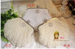Wholesale Dress Hand Bags - High-end Shell Pearl Bales Dinner Party Bride Dress Package Bag Chain Hand Bag Bag