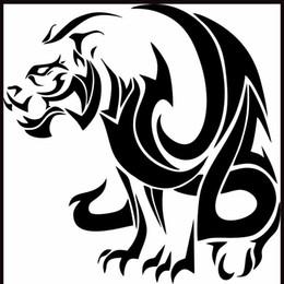 2019 decalques de vinil leão A Besta Leão Tigre Engraçado Auto Car Bumper Janela Vinyl Decal Sticker Decalques decalques de vinil leão barato