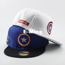 Wholesale Hat Cap Captain - Fashion Designer The Captain America With A Star Baseball Hats Hip Hop Caps Cotton Adjustable Snapback For Adults Mens Womens Summer Visor