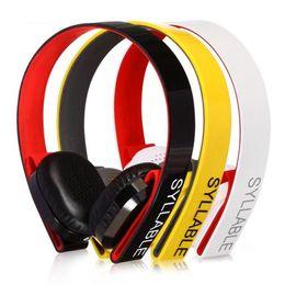 Wholesale Headphone Syllable - original Brand Syllable G600 Stereo Bluetooth Headset 4.0 Headphone HIFI wireless headphone wireless earphones with microphone