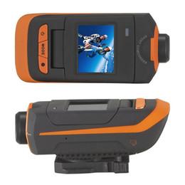 Casco de deporte cámara de vídeo de acción online-AT90 FULL HD 1080P Acción deportiva video Cámara 60M Impermeable Bike Helmet digital mini Cámara portátil Videocámaras