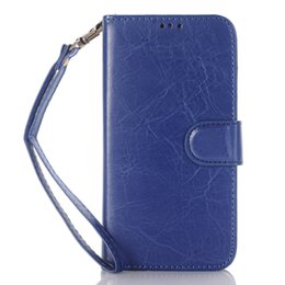 Wholesale Credit Card Book - Book Style Crazy Horse Wallet Folio Stand Leather Case Cover with Credit Card Slot Money Pocket for Samsung Galaxy j7 2016