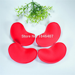 Wholesale Cup Lifter - Wholesale-Wholesale Bra Enhancers Breast Lifter Pads Foam Bra Cups Massage Padding Inserts Push Up 50pairs lot Black White Beige Red