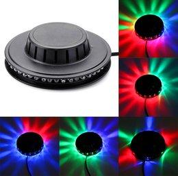 Wholesale Wholesale Black Light Leds - Black white Sunflower LED Light Magic 7 Colors 48 LEDs auto Voice Activated LED RGB Stage Light for Disco Stage home party