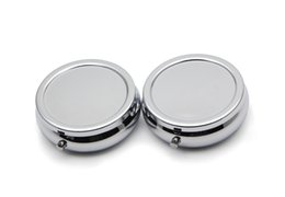 Wholesale Wholesale Purse Stylish - Premium Stylish Compact Round Metal Pill Case Box Organizer 3 Compartment - Discreet Fits Easily in Pocket and Purse (Chrome)#PY03S