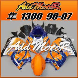 Wholesale Hayabusa Corona Fairing - Best Selling Fairings Addmotor Injection Mold Plastic For Suzuki GSXR1300 Hayabusa 96-07 Corona Orange Blue S3611+5 Free Gifts Best Chioce