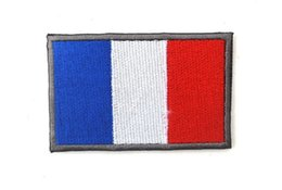 Wholesale Clothing Wholesalers France - 2016 50 PCS Embroidered France Flag Patch Tactical 3D Patches Combat Badge Fabric National Flags Armband Badges 2217