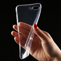 Wholesale Gel Mobile Phone Covers - Transparent Clear Case for iPhone 7 iPhone 7 Plus Soft Silica Gel TPU Case Silicone Cover Ultra Thin Mobile Phone Case