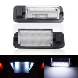 Wholesale Bmw Led License Plate Lighting - 2X Error Free 18 LED 3528 SMD License Plate Lights Car Lamps External Bulbs Auto Accessories Fit For BMW 3 Series E36 1992-1998