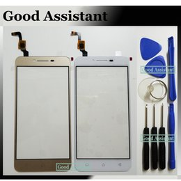 Wholesale Flex Tools - Wholesale- Black White Gold For Lenovo vibe k5 plus A6020 k5 A6020a46 Touch Screen Glass Digitizer Panel With Flex Cable Replacement +Tools