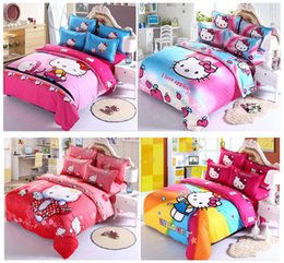 Wholesale Green Floral Bedspreads - Home textile 2016 New style Luxury bed set 4pcs duvet cover Bedding sheet bedspread pillowcase set