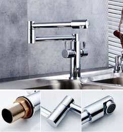 Wholesale valve polishing - Contemporary folding Faucet with double control Deck Mounted   Ceramic Valve Double Handle One Hole , Brass Chrome Mixer Tap