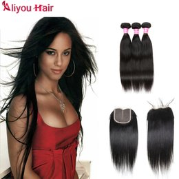 Wholesale Cheap Items Free Shipping - Hot Items Wholesale Peruvian Mink Brazilian Indian Virgin Straight Hair Weave bundles Cheap Hair Extension DHL Free Shipping