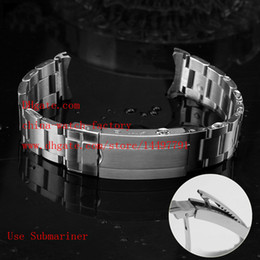 Wholesale High Quality Watch Mens - Luxury 316 Stainless Steel Bands 20mm Use Brand Watch SEA Dweller 116660 SUB 116610 GMT 116710 Gear Clasp High Quality Strap Mens Watches