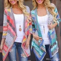 Wholesale Long Womens Dress Coats - Boho Womens Long Sleeve Cardigan Loose Sweater Outwear Knitted Jacket Coat woman summer off shoulder Tops maxi dress