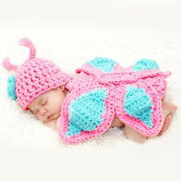 Wholesale Cartoon Crochet Infant Animal Hat - Newborn Crochet Baby Photography Props Crochet Hat Infant Newborn Baby Photo Props Kids Knitted Animal Hats Beanies Handmade Cap
