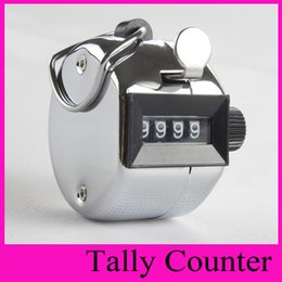 Wholesale Kids Number Toys - New Best Promotion Stainless Metal Mini Sport 5203 Hand Tally Counter Lap Clicker Golf Handheld Manual 4 Digit Number Clicker Silver