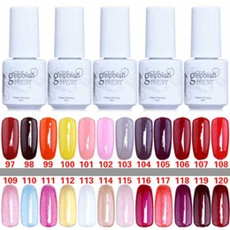Wholesale Gelish Gel Nails - 168 colors 5ML high quality soak off led uv gel polish nail gel lacquer varnish gelish free shipping by DHL