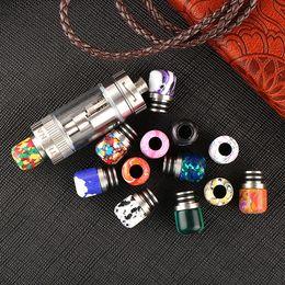 pietre lucide Sconti 510 Turchese Ecig Drip Tip Bella Tophus Stone Drip Tips Doppi anelli di lucidatura per atomizzatori RDA RBA DHL Free