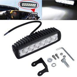 "Wholesale Led Flood Lights For Trailer - 6"" inch 18W LED Work Light Bar Lamp for Driving Truck Trailer Motorcycle SUV ATV OffRoad Car 12v 24v Flood Spot"