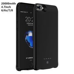 Wholesale Iphone Cover Bank - Power Bank Charger Battery Case 20000mAh for iPhone 4.7inch Backup External Battery Powerbank Cover for iPhone 6 6s 7 8