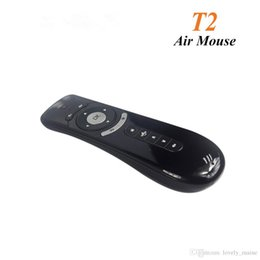 Wholesale Android Stick Keyboard - Cheapest Gyroscope Mini Fly Air Mouse T2 2.4G Wireless Keyboard Android remote control 3D Sense Motion Stick For Smart TV