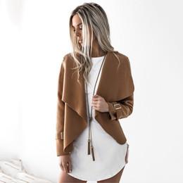 Wholesale Coat Womens Woolen - Spring Summer 2017 women Fashion New suede jacket short paragraph Lapel woolen Slim basic Jacket coats female Jackets Womens