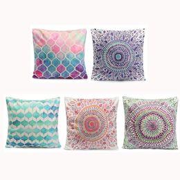 Wholesale Hotel Figures - Wholesale- Pillow Case New Geometry Figure Cotton Throw Pillow Cover Case Waist Soft Pillowcase Square Home Room Bed Supplies 45x45cm