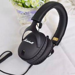 Wholesale Headphones Line Microphone - Cool Gift Marshall Monitor Stereo Hifi DJ Headphones with Microphone Sports Headphone Universal Headset Can Change Line Ladle M-ACCS-00152