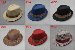 Wholesale Kids Fedora Ears - New Style Fashion Children Snapback Hats Boy Girl Unisex Fedora Hats Cap for Children Jazz Caps Kids Outdoor Sport Sun Hats Summer Cartoon