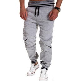 Wholesale Muscles Men Pants - Wholesale-Men's Athletic Gym Long Pants,Muscle Workout Sport Casual Outdoor Sweat Pants,Men Running Fitness Pants Joggers