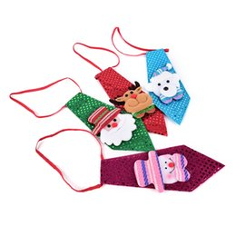 Wholesale Kid Sequin Ties - Christmas Tie Sequins Santa Claus Snowman Reindeer Bear Christmas Decoration For Home Xmas Decoration Kids Toy Ornaments