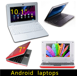 Wholesale Mini Netbook Inches - 7 inch 10.1 inch Mini laptop VIA8880 Netbook Android laptops VIA8880 Dual Core Cortex A9 1.5Ghz 4GB 8GB Netbook