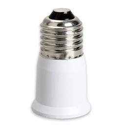 Wholesale Lamp Socket Extensions - E27 to E27 Lamp Socket Base Extension Base CLF LED Light Bulb Lamp Adapter Socket Converter Lamp Holder Converter Bulb lighting