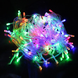 luci nette per alberi Sconti 20m 9 colori AC110V / 220V led light string 200 led wedding partying natale decorazione albero di natale luci led luce di natale